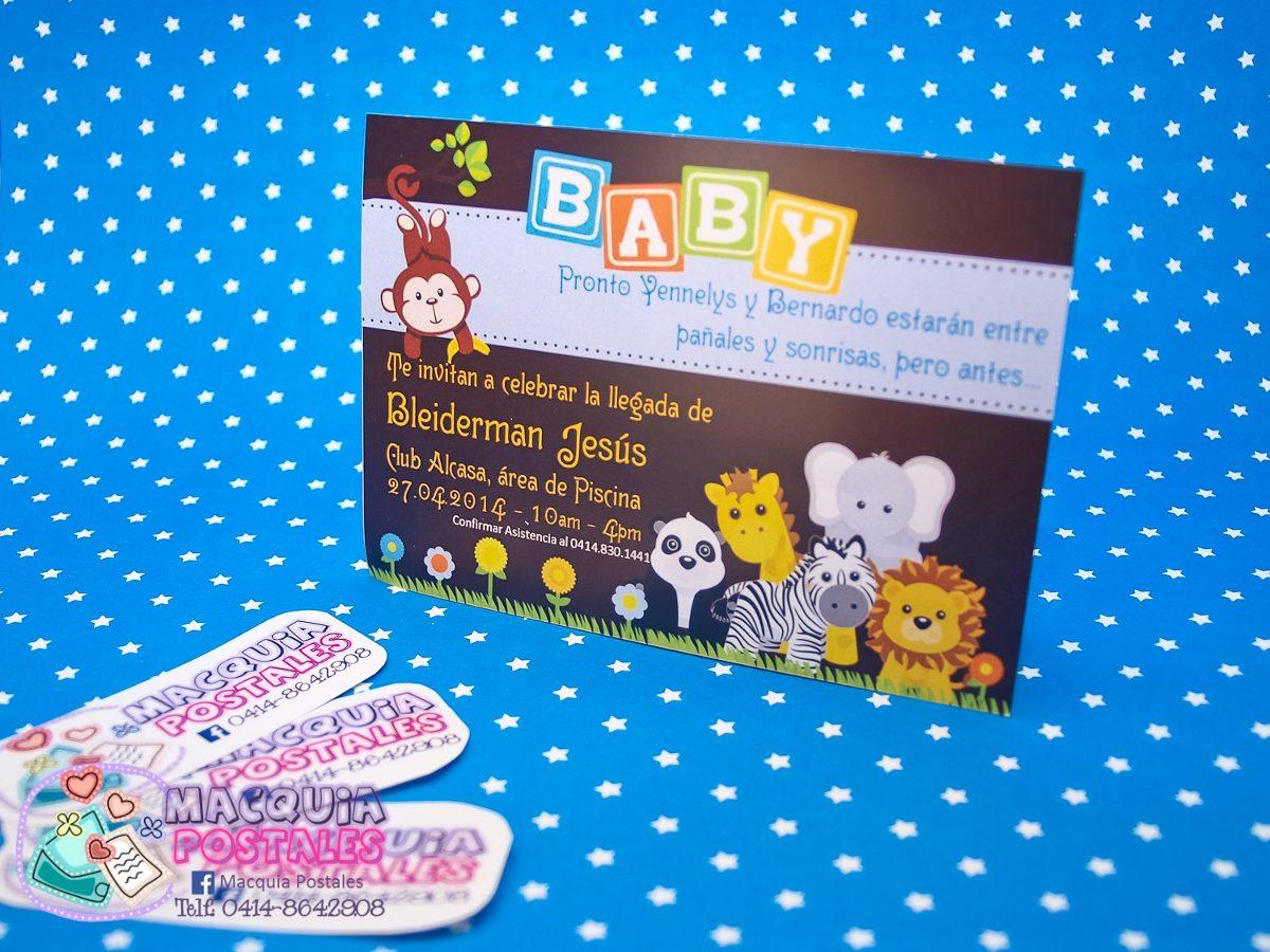 8d86a592b301d Invitaciones Tipo Postal - Baby Shower Niña o Y Gemelos 14x9 - Bs. 0 ...