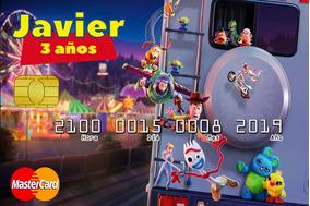 48 Invitaciones Tipo Tarjeta De Credito Toy Story 4 V3