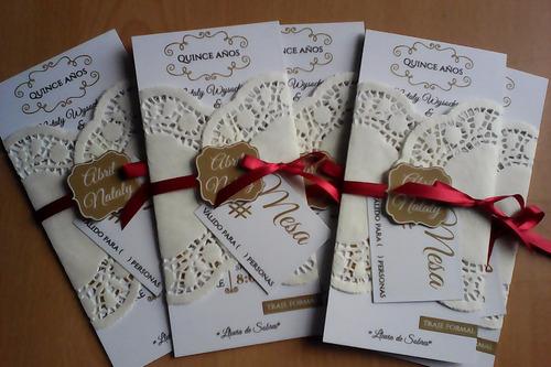 invitaciones vintage de boda y 15 años (uno)