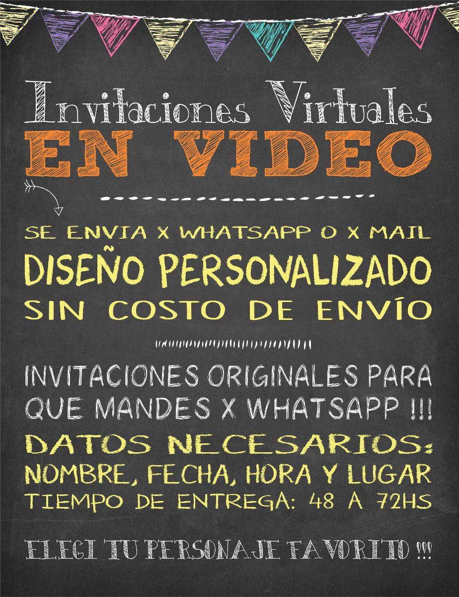 Invitaciones Virtuales En Video Para Whatsapp Hombre Araña