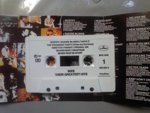 inxs greatest hits cassette seminuevo + cd transfer d regalo