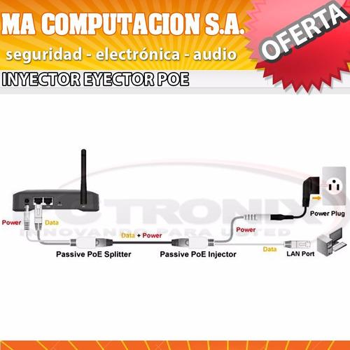 inyector y eyector poe splitter pasivo camaras routers modem