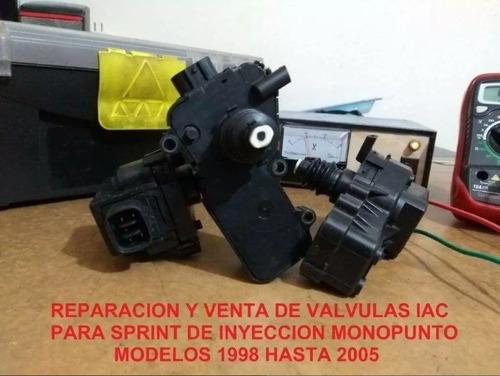 inyectores & motorinos iac para chevrolet sprint