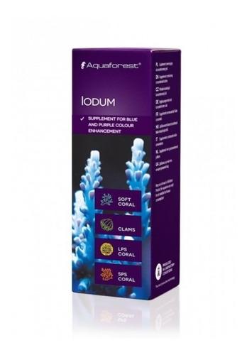 iodum 10ml aquaforest iodo cor azul, roxo para coral aquário