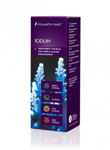 iodum aquaforest cor azul e roxo para corais 10ml val06/2021