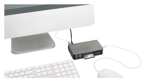 iogear usb 2.0combo hub y lector de tarjetas con cable mini