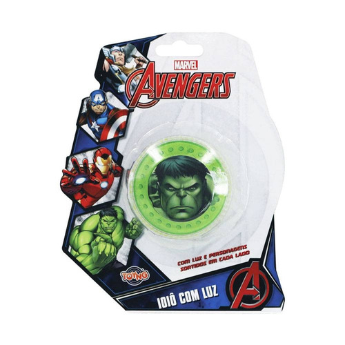 ioiô com luz vingadores/avengers - hulk - toyng