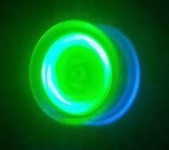 ioio yoyo profissional com rolamento brilha escuro luz negra