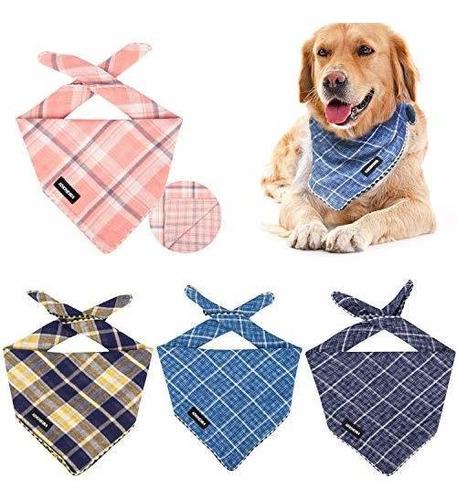iokheira perro pañuelo, 4 piezas bufandas de algodon lavabl