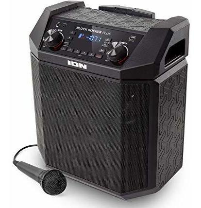 ion audio altavoz portátil block rocker plus con batería de