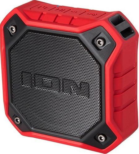 ion dunk parlante bluetooth sumergible portatil bateria rojo