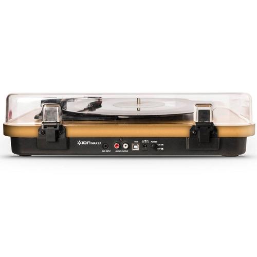 ion max lp toca discos de vinil com alto-falantes e tampa