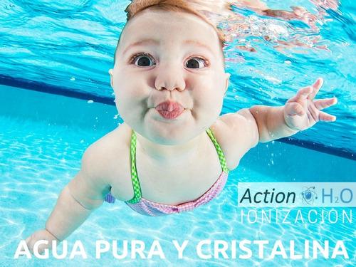 ionizador action h2o piscinas 200 m3 basta de cloro!