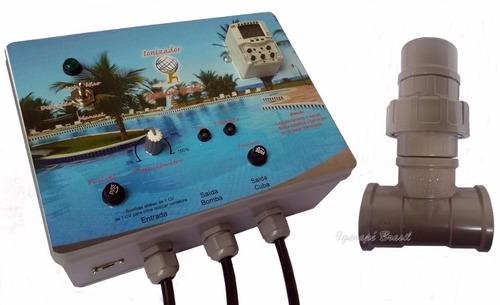 ionizador piscina 50m3, igarapé brasil, timer digital