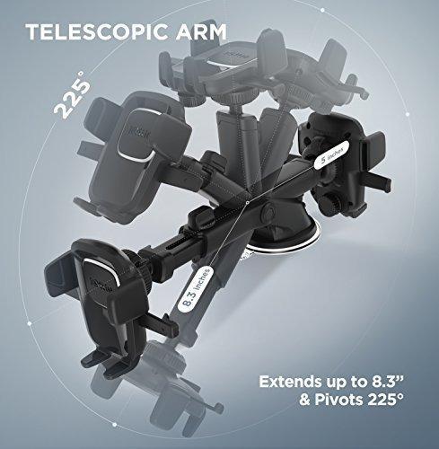iottie easy one touch 4 dash y parabrisas soporte para telef