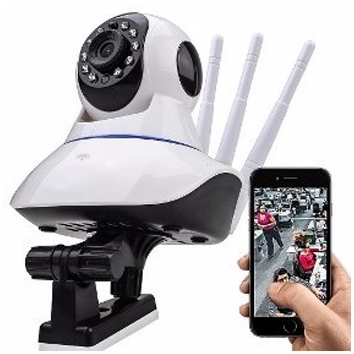 4623b8f88 ip camera wifi com 3 antenas onvif hd p2p 360°. Carregando zoom.