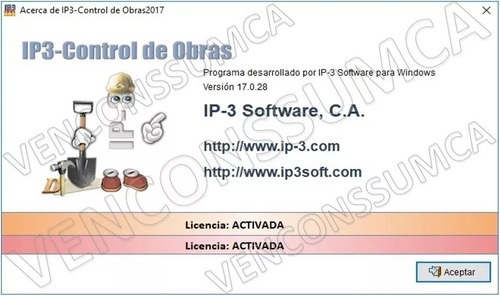 ip3 v2017 full control obra con guia del mes bs.s actual