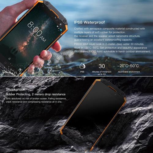 ip68 p9000 max rugged phone 4g telefono movil 9000mahpoptel