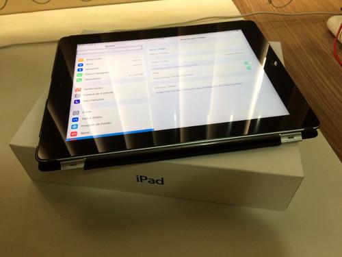 ipad 3 32gb wifi + 3g / 4g usado c/ capa traseira e frontal