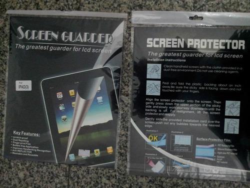 ipad 3 e ipad 4 película anti-reflexo p/ proteção da tela