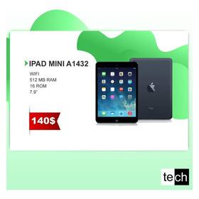 iPad 4, iPad Aira1474, iPad Minia1432, Seminuevas Desde $140