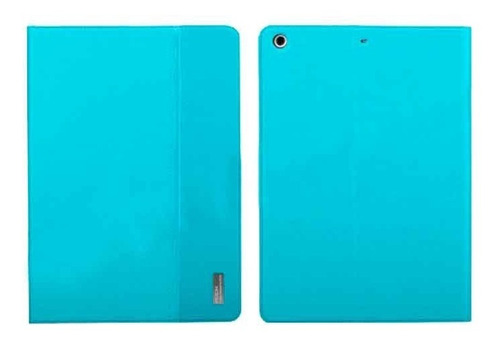 ipad air funda smart rock series 100% original de piel azul