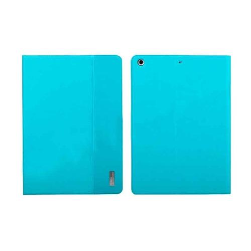 ipad air funda smart rock series original de piel azul