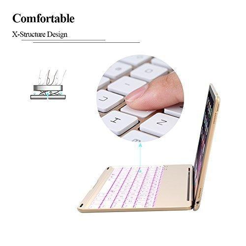 ipad keyboard case para 2017 ipad 9.7 pulgadas
