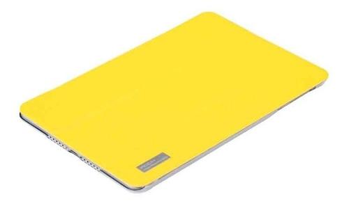 ipad mini funda smart rock series original de piel amarillo