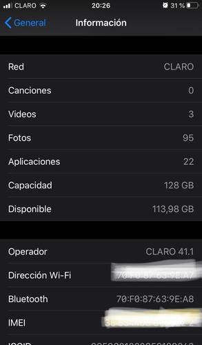 iphone 128gb 90%de baterías en perfecto estado