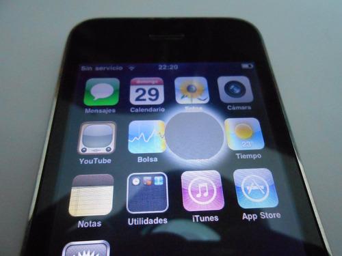 iphone 3g a1241 usado funcionando con detalle en pantalla