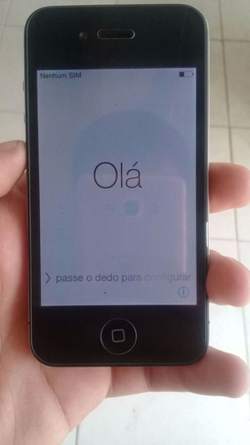 iphone 4 16gb original apple preto 3g desbloqueado seminovo
