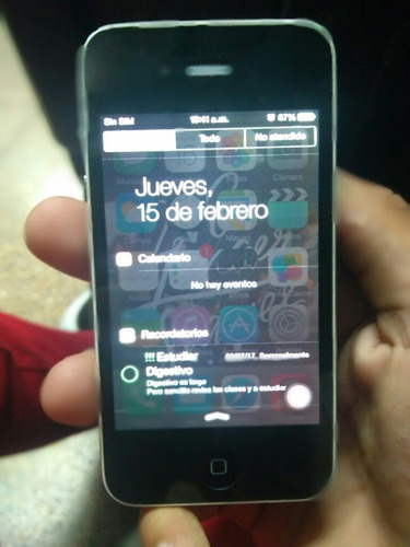 iphone 4  32 gb, sin señal, para usar como ipod o repuesto