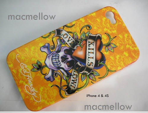 iphone 4 4s funda acrilica diseño ed hardy protector apple