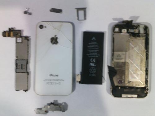 iphone 4 a1332 blanco completo para refacciones o reparar
