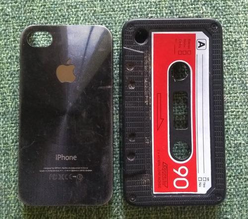 iphone 4 com carregador e phone e duas capas