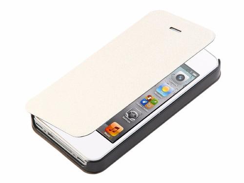 iphone 4/4s funda en piel stylus+ 2 micas +envio gratis