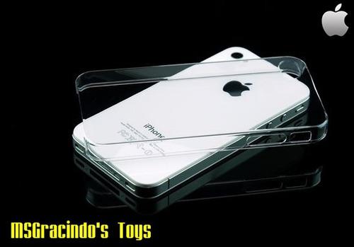 iphone 4g / 4s - capa transparente acrílico fina de 0.7mm