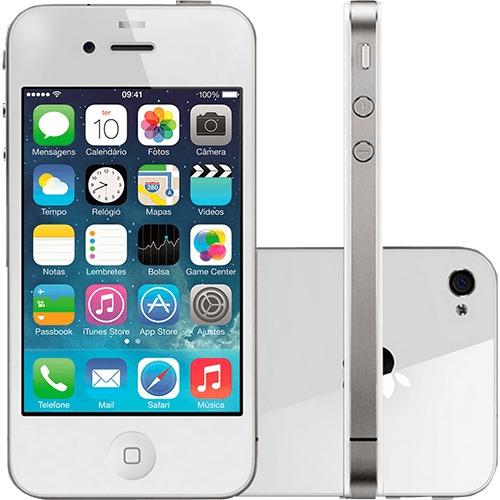 iphone 4s 16gb branco original câmera 8mp+ capa + pelicula.