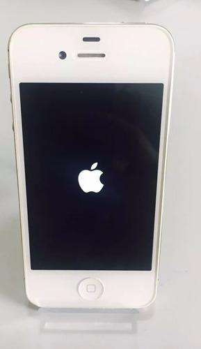 iphone 4s 16gb branco seminovo - original apple + acessórios