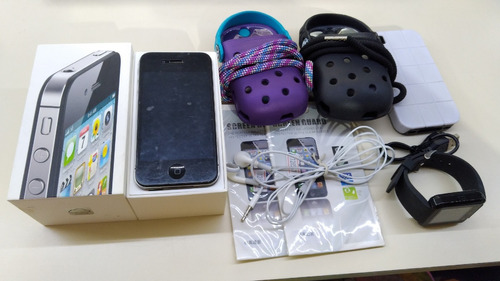 iphone 4s 16gb preto usado + brindes