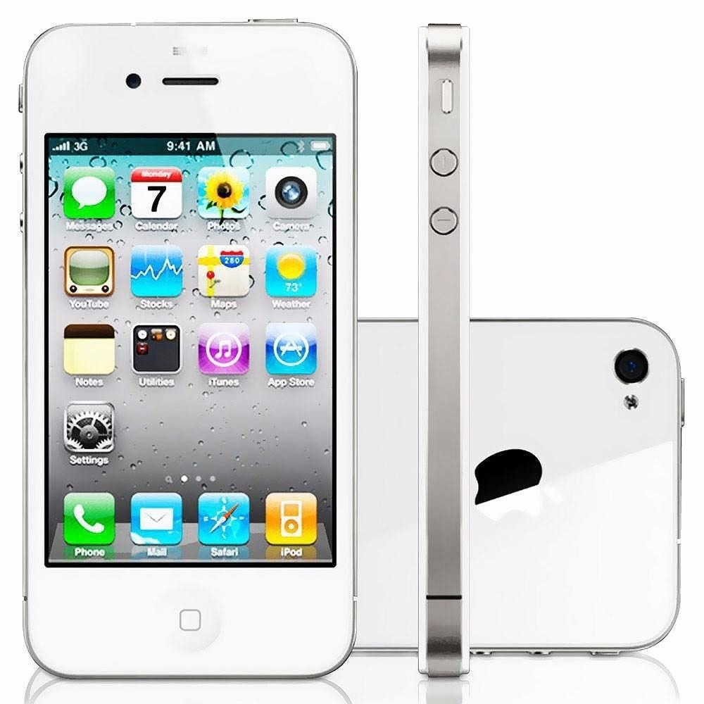 iphone 4s 8gb original apple branco 3g desbloqueado. Black Bedroom Furniture Sets. Home Design Ideas