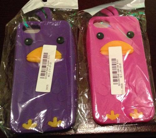 iphone 5 5s protector rosa o fucsia pinguino carcasa funda