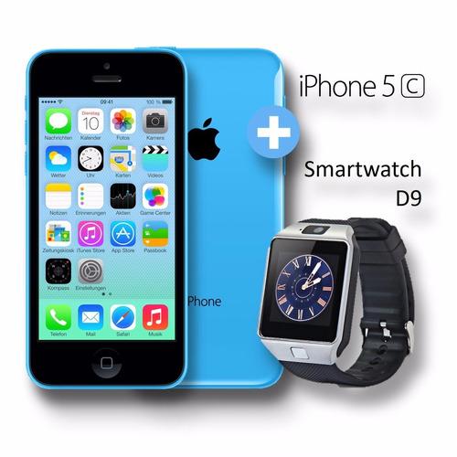 iphone 5c 16 gb garantía 1 año + smartwatch d9