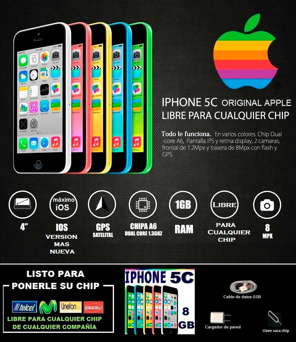 Iphone 5c 8gb Telcel Movistar Etc.. Promoción Solo Hoy ...