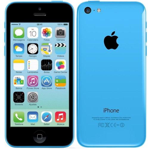 iphone 5c apple 16gb azul novo na caixa l 01 ano de garantia