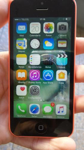 iphone 5c rosa 16gb funcionando al 100 de todo envio gratis
