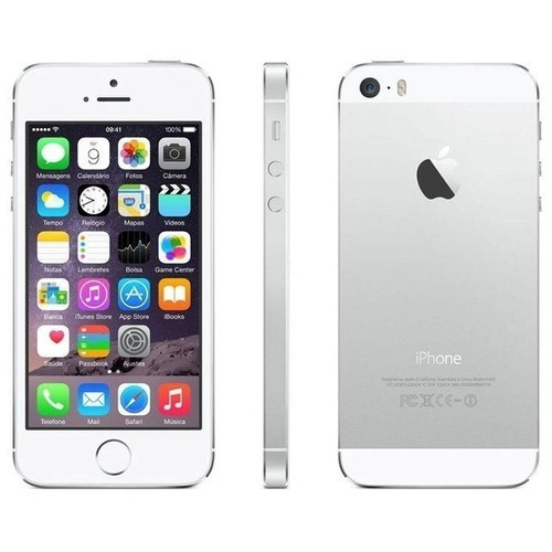 iphone 5s 16gb branco prata 4g apple desbl original seminovo