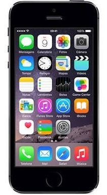 iphone 5s 32gb preto + película anti-choque