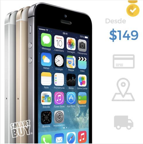 iphone 5s 6 6s 7 plus | garantía, pago tarjeta, mejor precio